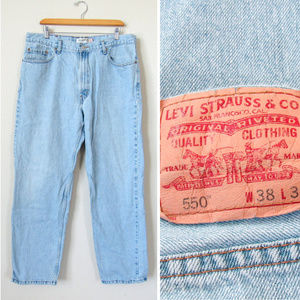VTG Mens Levis Denim Jeans 550 Relaxed Fit